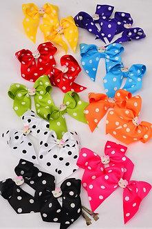 Small Polka Dotted Hello Kitty Bow