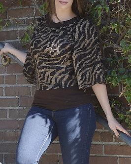 Brown/Tan Zebra Blouse