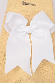 White Longtail Cheer Bow