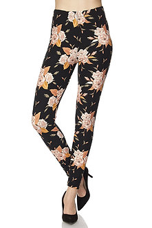 Black/Blush Floral Print Leggings