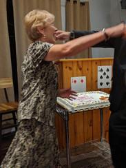 Mike Jankowski's Mom with her Birthday Cake!