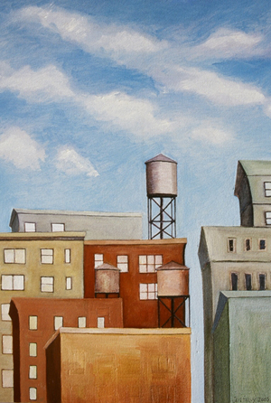 Flower District Watertowers
