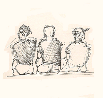 Three Boys Sitting