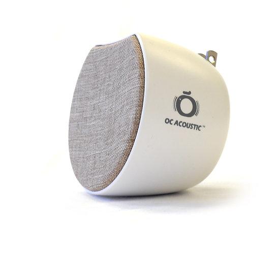 Newport Plug-in Speaker, Champagne / White