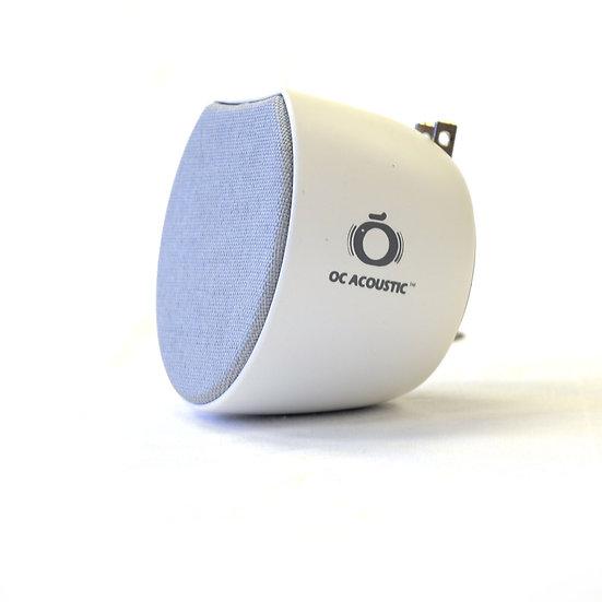 Newport Plug-in Speaker, Light Gray / White