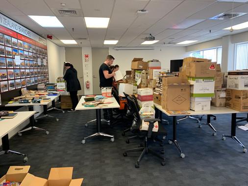 Repco staff donate more than 1000 books!