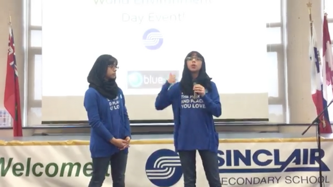 World Environment Day Event in Whitby with Blue Dot