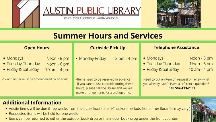 Services Available at Austin Public Libr