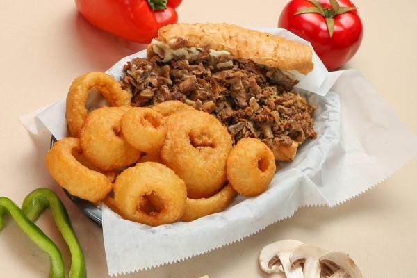 Cheesesteak w onion rings Resized