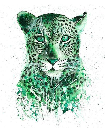 Green Leopard - Original
