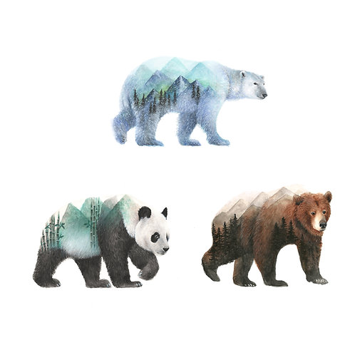 Bears Mini Print Bundle