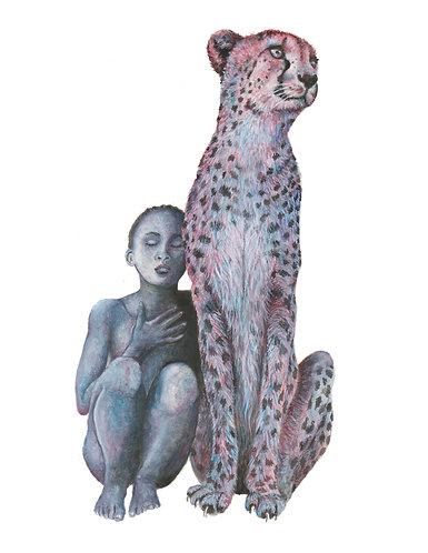 Cheetah and Girl - Original