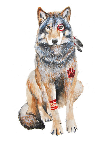 Native Wolf - Original
