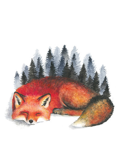 Sleeping Fox - Original