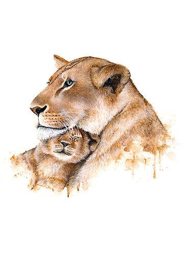 Lion Family - Original