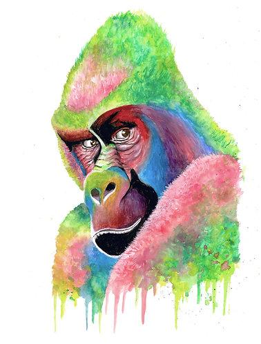 Colorful Gorilla - Original