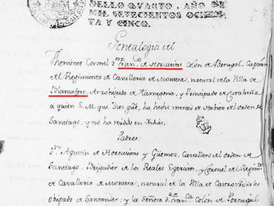 Apunts biogràfics de Francesc d'Horcasitas, capità general de Catalunya fill de Blancafort