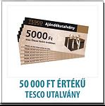 50.000 Ft-nyi TESCO ajándékutalvány