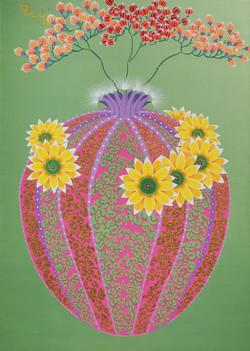 a cactus beautiful time