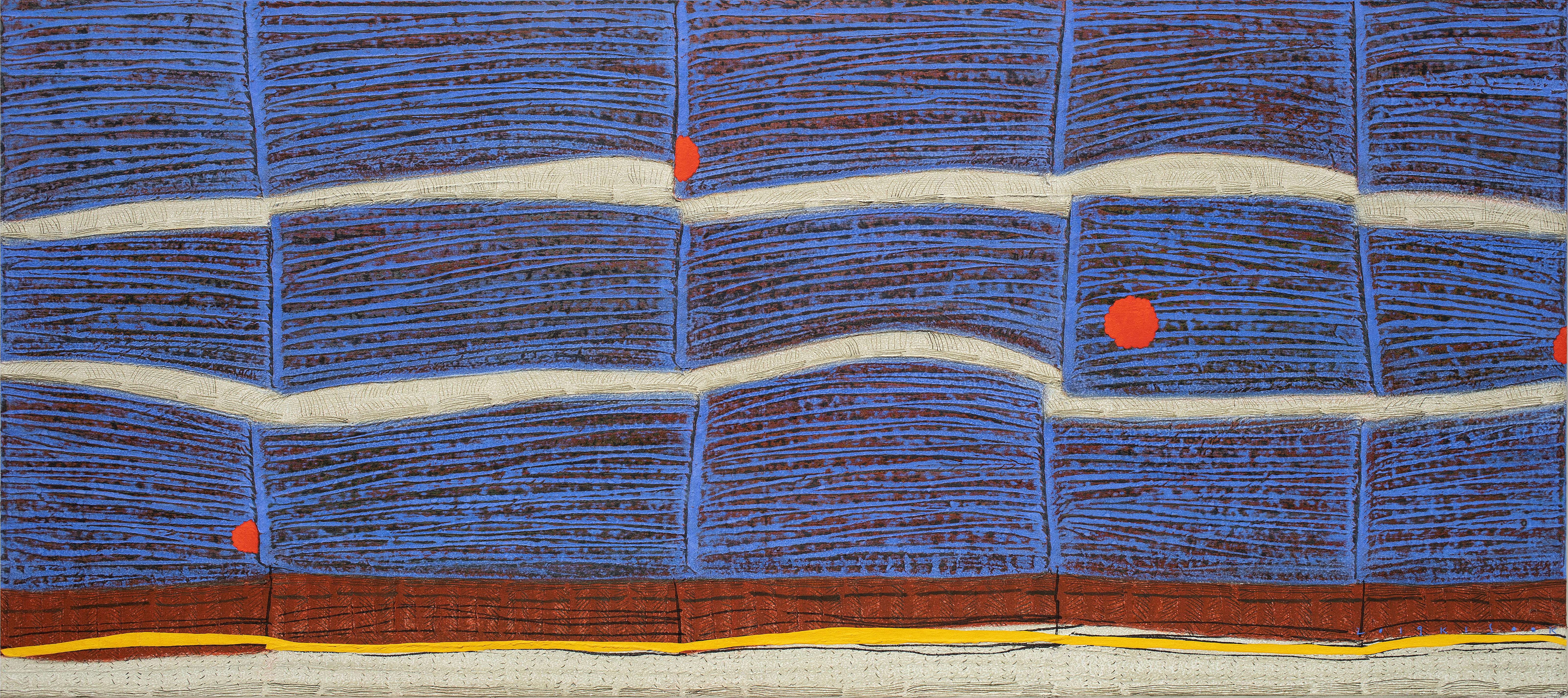 선묘 풍경 A Scenery of Lines 60x135cm 캔버스에 한