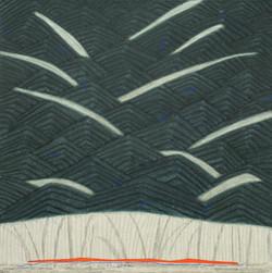 선묘 풍경 A Scenery of Lines 120x120cm 캔버스에
