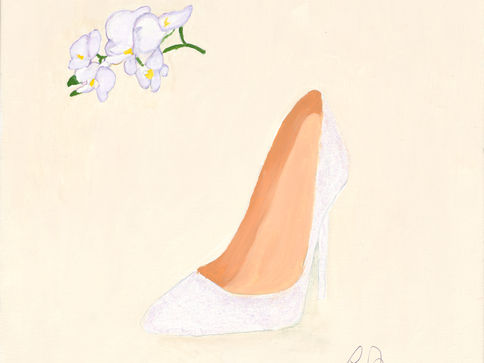 Orchids and White Slipper