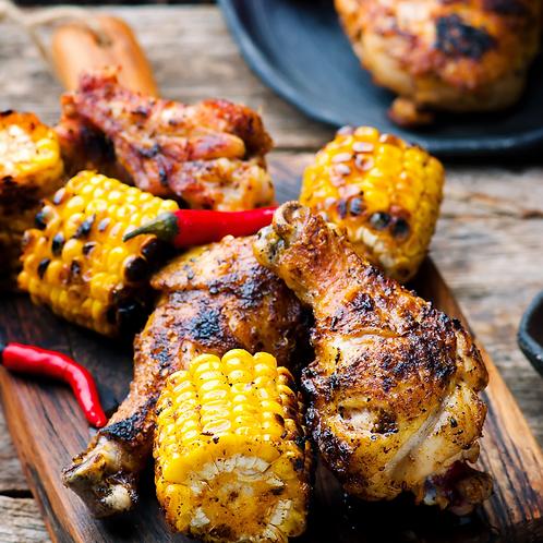 Cajun Chicken and Corn