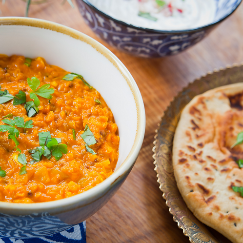 Dhal & Naan Bread