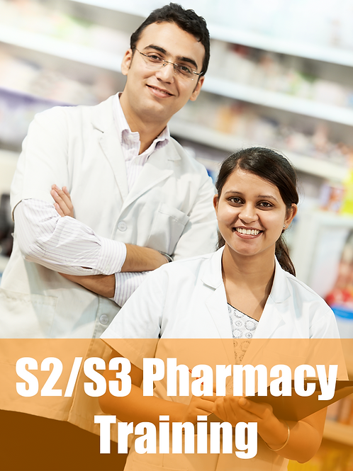 S2/S3 Pharmacy Training - Online