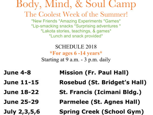 Body Mind and Soul Camps Begin!