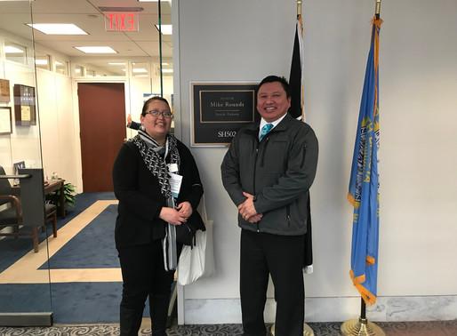 Jen & Ben Black Bear attend Catholic Social Ministry in Washington DC