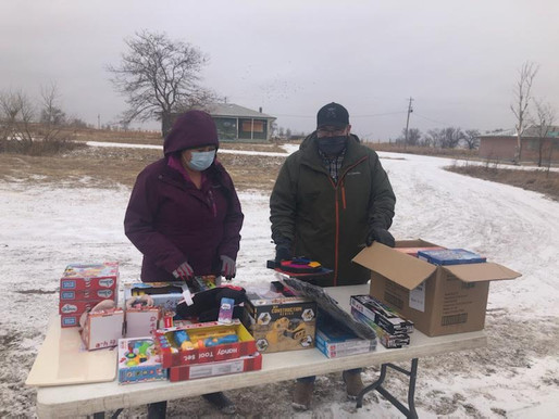 St. Francis Mission Distributions Toys for Tots Across the Reservation