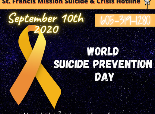 Remember our Suicide & Crisis Hotline.  We are here!