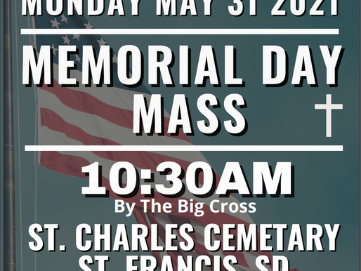 Memorial Day Mass at St. Charles Cemetery