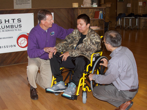 SFM Collaborates with American Wheelchair Mission & Knights of Columbus!