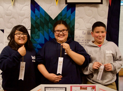 Sapa Un Catholic Academy students receive remarkable results in local science fair.