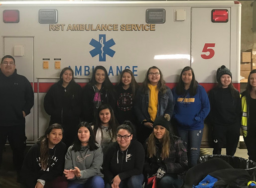 Youth Group Makes Valentines Day Treats for the Elderly & RST Ambulance Service