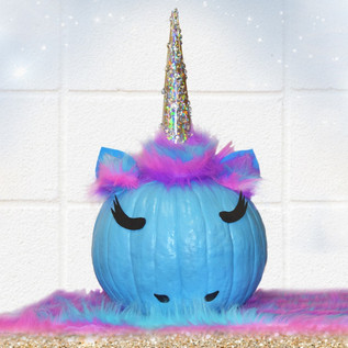 Unicorn Painted Pumpkin