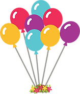 Bunch of balloons for birthday party package