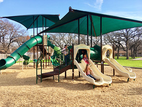 Denton Parks and Rec maintains 27 playgrounds.