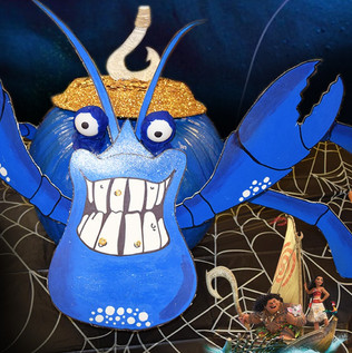 Tamatoa Painted Pumpkin