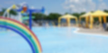 Children's playpool cabanas at Water Works Park