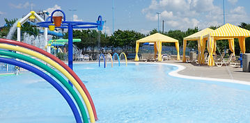 Children's playpool cabanas at Water Works Park
