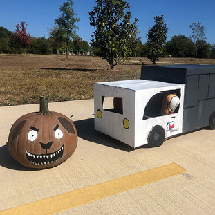 Animal Services Painted Pumpkin