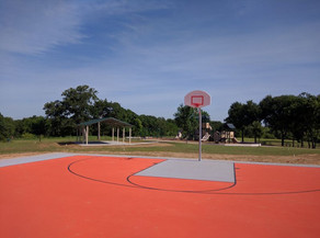 Denton Parks and Rec maintains:  15 basketball courts.
