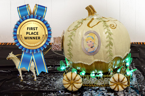 Cinderella Painted Pumpkin