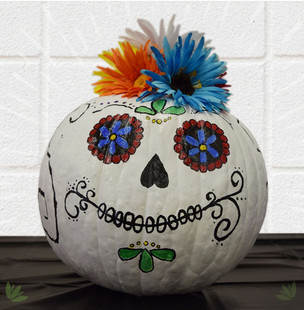 Sugar Art Painted Pumpkin