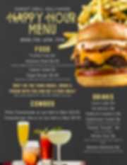Affordable Happy Hour Food Menu