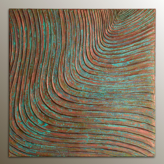 Woodcuts #4/P | Copper Patina