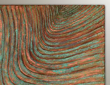 Woodcuts #4/P | Copper Patina